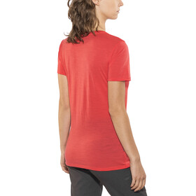 Icebreaker W's Tech Lite SS Low Crewe Shirt poppy red